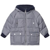Mayoral Grey Padded Hooded Coat