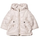 Mayoral Beige Hooded Puffer Coat