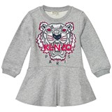Kenzo Kids Grey Embroidered Tiger Sweat Dress