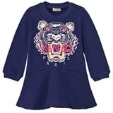 Kenzo Kids Purple Embroidered Tiger Sweat Dress