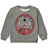 Kenzo Kids Dark Grey Marl Logo and Peace Sign Sweatshirt