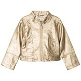 Mayoral Champagne Studded Pleather Jacket