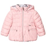 Mayoral Pink Reversible into Floral Hooded Coat