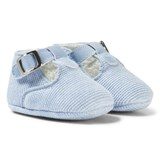 Mayoral Blue Knitted T-Bar Shoes
