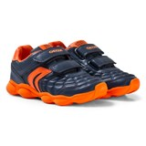 Geox Navy and Orange Junior Munfrey Velcro Trainers