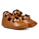 Chloé Tan Lace Up Crib Shoes