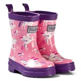 Hatley Pink Unicorn Print Wellies