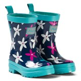 Hatley Navy Flower Print Wellies