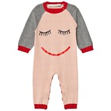 Stella McCartney Kids Pink Face Knit Tommy Footless Babygrow