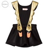 Bang Bang Copenhagen EXCLUSIVE Black and Gold Swan Pinafore Dress