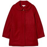 Chloé Red Wool Coat with Gold Detail