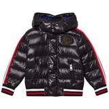Diesel Black Puffer Jacket with Hood