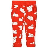 Stella McCartney Kids Red Zoey Swans Track Pants