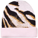 Kenzo Kids Pink Multi Animal Print and Tiger Beanie