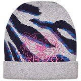 Kenzo Kids Grey Multi Animal Print and Tiger Beanie