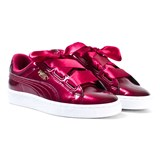 Puma Red Basket Heart Glam Trainers