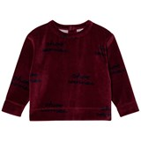 Tinycottons Bordeaux and Dark Navy Shoo Worries Sweatshirt
