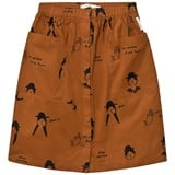 Tinycottons Brown and Black No-Worry Dolls Button-Down Skirt