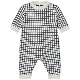 Tinycottons Beige and Black Grid Onesie