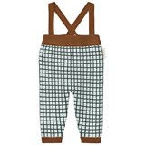 Tinycottons Light Blue and Dark Green Grid Trousers