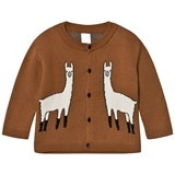 Tinycottons Brown and Beige Llama Cardigan
