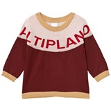 Tinycottons Bordeaux and Pale Pink Altiplano Oversized Sweater