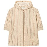 Tinycottons Beige and Red Alphabet Soup Oversized Jacket