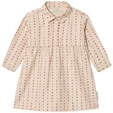 Tinycottons Beige and Red Alphabet Soup Woven Dress