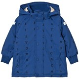 Tinycottons Blue and Dark Navy Alphabet Soup Snow Jacket
