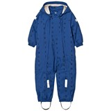 Tinycottons Blue and Dark Navy Alphabet Soup Snow Onesie