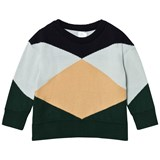 Tinycottons Dark Navy and Colourblock Geometric Sweater