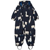 Tinycottons Navy and Beige Llama Print Snowsuit