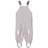 Tinycottons Pink and Black Grid Print Snowpants