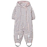 Tinycottons Pale Pink and Blue Grid Snow Onesie