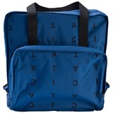 Tinycottons Blue and Black Alphabet Soup Backpack