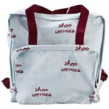 Tinycottons Blue and Burgundy Shoo Worries Backpack