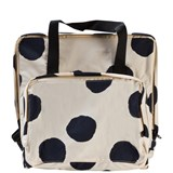 Tinycottons Beige and Black Spotted Backpack