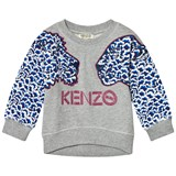 Kenzo Kids Grey Cloud Tiger Applique Sweatshirt