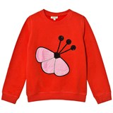 Kenzo Kids Red Sequin Flower Embroidered Sweatshirt