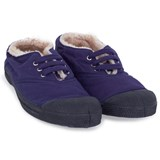 Bensimon Purple Faux Fur Plimsolls