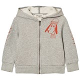 Bobo Choses Grey Bow Hooded Sweatshirt