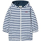 Bobo Choses Navy Striped Reversible Padded Anorak