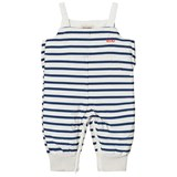 Bobo Choses Navy Stripes Padded Dungarees
