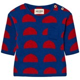 Bobo Choses Blue and Red Crests Knitted Jumper