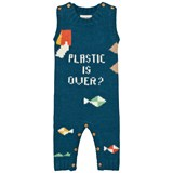 Bobo Choses Blue Plastic is Over? Intarsia Romper