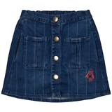 Bobo Choses Dark Wash Denim Striped Skirt