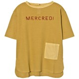 Bobo Choses Mustard Mercredi Pocket Dress