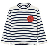 Bobo Choses Navy Loup de Mer Turtle Neck Jumper