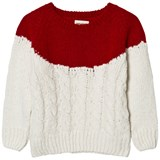 Bobo Choses Red and White Yoke Knitted Jumper