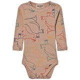 Bobo Choses Beige Seal Print Bodysuit